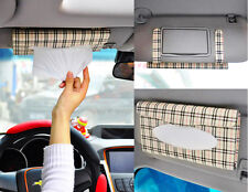 US 1pc Car Sun Visor Tissue Paper Box Case Holder Interior Decoration Accessory