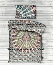 Indian Mandala Print Twin Quilt Duvet Cover Blanket Comforter Cover Pillow Sham