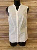 Worthington Sleeveless Tank Top Size Small Womens White NWT New Shirt Blouse