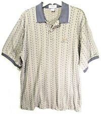 Titleist Corbin Ltd Plantation Golf Polo Shirt Blue Beige Cotton Men Sz Xl Vintg
