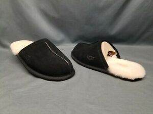 UGG Men's Scuff Slippers Suede Upper Wool Lining Slip-On Black Size 8 NWOB!