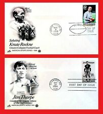 ZAYIX - U.S. - FDC - Football Legends Jim Thorpe / Knute Rockne