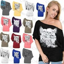 Polyester Skull Plus Size T-Shirts for Women
