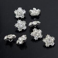 8 Stück Silber Knöpfe Strass Legierung Hochzeit Braut Schmuck Nähen Knöpfe 15mm