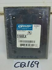 NEW WIREMOLD WALKER LEGRAND S166BLK BLACK POLY FLUSH RECEPTACLE PLATE COVER