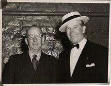 Hand Signed 7x9 vintage photo 1953 - MAURICE CHEVALIER - GIGI - RARE