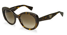 RARE NEW Authentic PRADA Ladies Havana Matte Brown Sunglasses SPR 12P 2AU1X1 PR