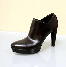 $895 New GUCCI KAREN Leather/Suede Platform Boots SHOES 40.5/10.5 252162 2145