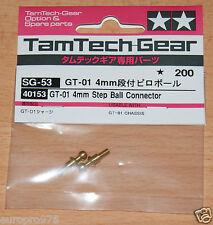 Tamiya 40153 Tamtech-Gear GT-01 4mm Step Ball Connector (GT01), NIP