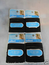 72 Pcs. Scunci Effortless Beauty 16776-Q Brown No Damage Hair Ties NEW