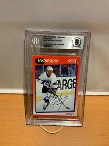 HOF Hockey Wayne Gretzky Autographed Card Beckett Certified