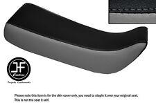 Personalizado de vinilo negro y gris se ajusta Honda Xr 100 R 85-97 Doble Cubierta de asiento solamente
