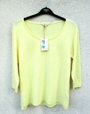 Marks & Spencer Yellow Top Size 14 with Stretch & 3/4 Sleeves