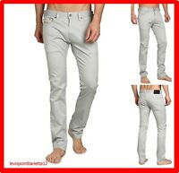 pantaloni a jeans diesel thanaz-a slim skinny stretch uomo estivi W 32 34 36 38
