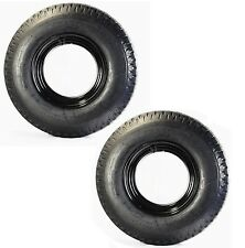 Two Open Center Mobile Home Trailer Tires & Rims 8X14.5 8-14.5 14.5 Load G 14Ply