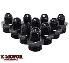 10-pcs K-MOTOR ORB-8 O-ring Boss AN8 8AN  to AN6 6AN  Male Adapter Fitting Black