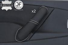 White Stitch 2X Avant Poignée Porte Couverture en cuir pour CITROEN XSARA PICASSO 04-10