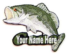 Bass Fishing Custom Iron-on Patch With Name Personalized Free