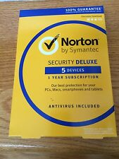 Norton Security Deluxe 2017 with Antivirus - 5 Devices - Newest Full Retail