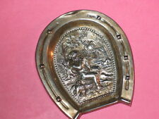 Victorian 800 Silver Cherub Paying A Flute To Birds Pin Tray ~ Horse Shoe Frame