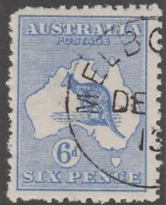 Kangaroo 6d blue stamp 1st watermark cancelled to order cto full gum hinged