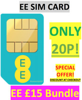 EE Sim Card £15 Bundle Pack Pay As You Go TRIPLE CUT - ONLY 20P!! DISCOUNT