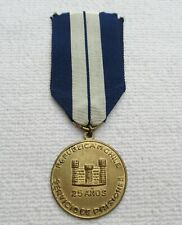 Chile Orden Merit for Justizangestelle Medal for 25 Years at Band