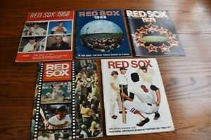 Vintage Boston Red Sox Yearbooks