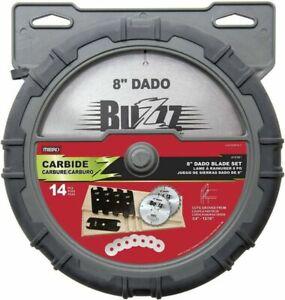 """MIBRO 8"""" Carbide Stacking Dado Blade Set - 14 Pieces, 416381"""