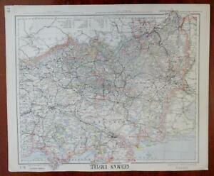 German Empire Hanover Prussia Westphalia Saxony Pomerania 1883 Letts scarce map
