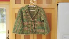 Size 3T to 4T Child Toddler Cardigan / Sweater > Soft Chunky Yarn > Hand Knit