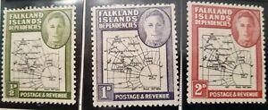 Falkland Island Dependencies Scott # 1L1-1L12 mint hinged 1946-48