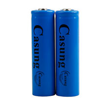 2pcs 18650 3000mAh 3.7v Li-ion BRC Rechargeable Battery For LED Flashlight Torch