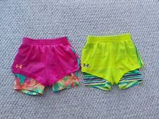 Under Armour 2 In 1 Spandex Athletic Shorts Size 4T