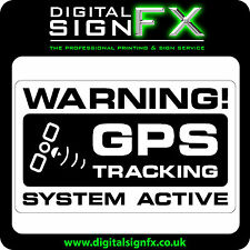 Warning GPS Tracking System Active Laminated Sticker Van Motorbike Car or Lorry