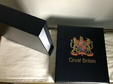 GB Hingless Davo stamp album inc slipcase with pages NAVY 1840-1951 EMPTY