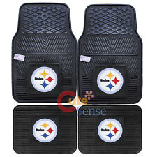 Pittsburgh Steelers Car Floor Mat 4pc Utility Fanmats NFL Auto Accessories