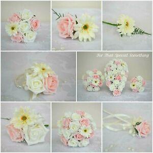 6X Artificial Silk Gerbera Daisy Flower Fake Bouquet Wedding Home Decor UK