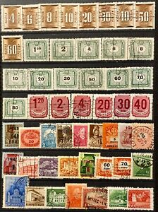 HUNGARY - DIFFERENT TOPICS - LOT OF 51 USED STAMPS