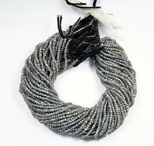 3-4.5 mm Natural labradorite Coated Faceted stone beads 13'' strand 1 Free ship