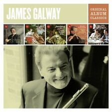 JAMES GALWAY 5CD NEW Mercadante/CPE Bach/Quantz/Pergolesi/Faure/Widor/Debussy