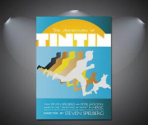 TinTin Vintage Art Deco Poster - A1, A2, A3, A4 sizes