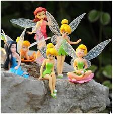 6pcs Tinkerbell Fairy Fairies PVC Playset Adorable Tinker Bell TV Movie Figures