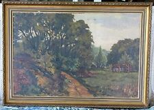 Powerful American Oil-1930's-Trees And Shed-Signed-Sleeper