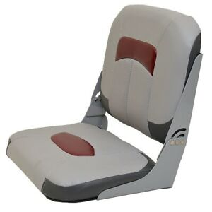 Wise Seating Boat Folding Seat | Tracker Marine 174727 Gray Red