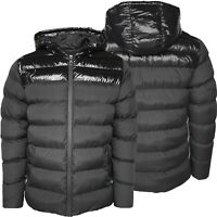 Mens Puffer Jackets Shiny Pannel Coat Quilted Padded Bomber Jackets GIFT