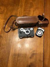 Vintage ARGUS Camera Rangefinder f/3.5 50mm Coated Cintar Lens Leather Case USA.