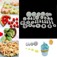 33Pcs Sugarcraft Cake Decorating Mold Fondant Plunger Biscuit Bake Mothers' Day