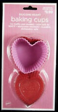 Silicone Hearts Baking Cups 12 From Wilton - NEW
