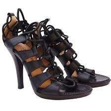 Yves Saint Laurent Lace Up Cage Sandals